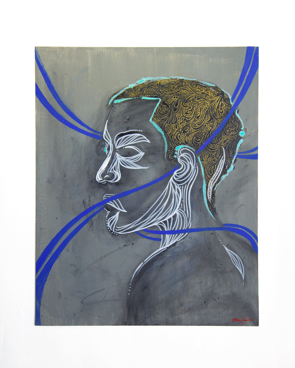 Self-portrait-ethan-solouki-abstract-los-angeles-painting